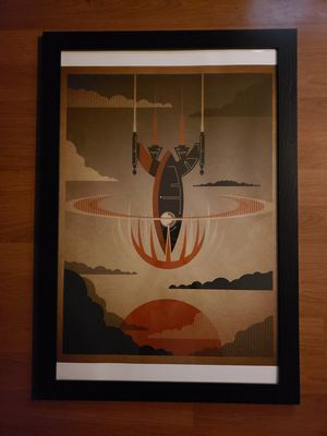 """Framed Space ship vector print 24"""" x 36"""" for Sale in Seattle, WA"""