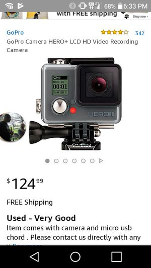 Gopro + whit a lcd for Sale in Olivette, MO