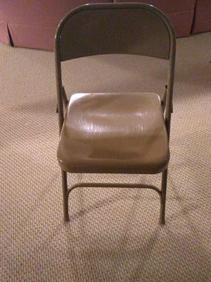 Folding metal chairs for Sale in Bethesda, MD