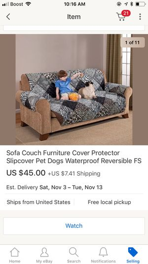 Slip cover new couch protector waterproof brown pets furniture dogs reversible for Sale in Cary, NC