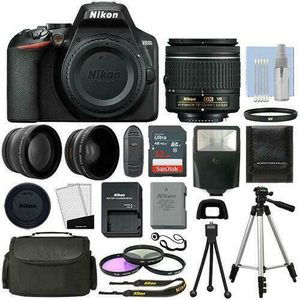 Nikon D3500 Digital SLR Camera Black with 3 Lens: 18-55mm VR Lens + 32GB Bundle For Professional for Sale in Henderson, NV