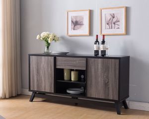 Jason TV Stand up to 70in TVs, Distressed Grey & Black for Sale in Fountain Valley, CA