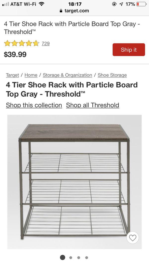 Threshold 4-tier shoe shelf