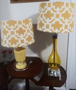 2 yellow lamps for Sale in Takoma Park, MD