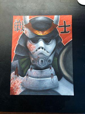 Star Wars Stormtrooper Samurai( COMPLETELY ORIGINAL ART) for Sale in Hialeah, FL
