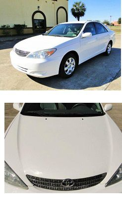 ~ 2004 Toyota Camry Exterior: Color: White, very clean no dents for Sale in Morton, IL