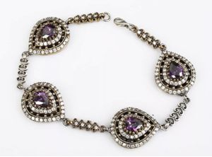 Amethyst Topaz Teardrops Silver Bracelet for Sale in Nashville, TN