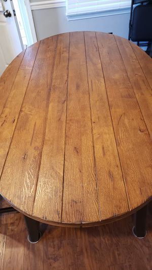 Kitchen Table with 2 Chairs and Bench.really nice set. 70 in length,, 41 in width Rustic look for Sale in Virginia Beach, VA