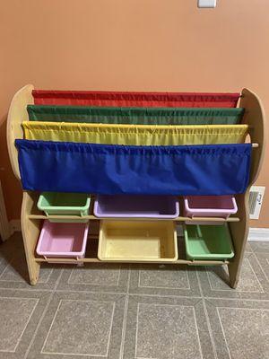 Kids toy and Book storage organizer shelf Rack with 6 Bins for Sale in Utica, MI