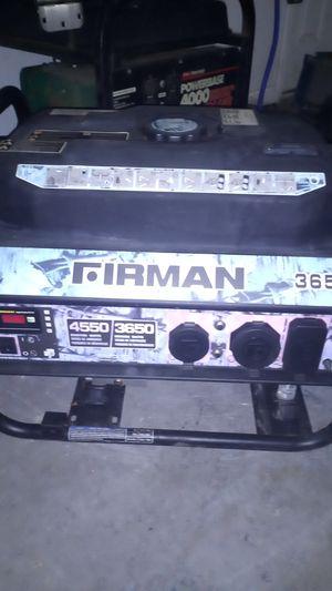 Fireman 3650 generator for Sale in West Columbia, SC