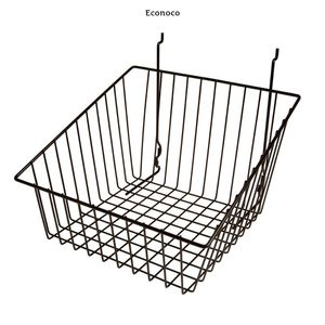 Econoco 12 in. W x 12 in. D x 8 in. H Black Sloped-Front Wire Basket (Pack of 6) for Sale in Dallas, TX
