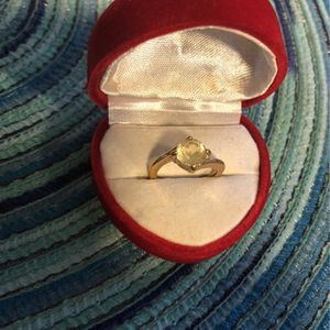 Yellow Citrine Stone In Unmarked Gold Setting for Sale in Keizer, OR