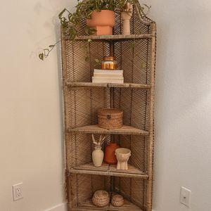 Vintage Rattan Corner Shelf for Sale in Kirkland, WA