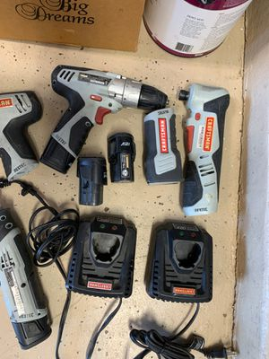 Craftsman Nextel 12 volt drill,Impact,Rotary Grinder, Ratchet, Cell Charger for Sale in Glendale, AZ