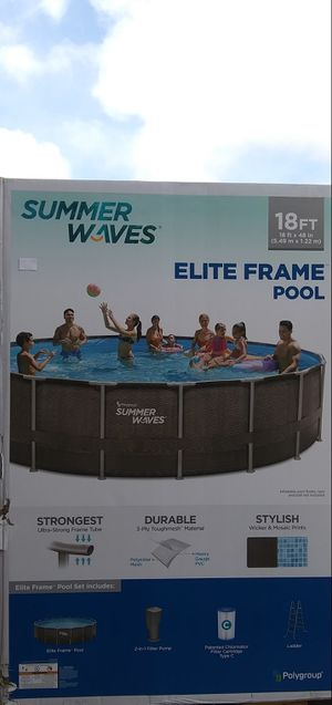 "Summer Waves 18' x 48"" Wicker Print Metal Frame Swimming Pool for Sale in San Diego, CA"
