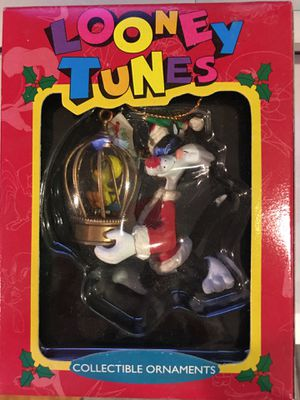 Looney Tunes Matrix Christmas Ornament Sylvester Tweety Bird Cage 1995 for Sale in San Jose, CA