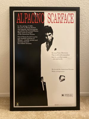 Alpacino Scarface poster for Sale in Irvine, CA