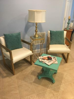 Side chairs, coffee table - DIY project for Sale in Brambleton, VA