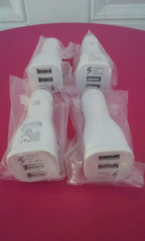 4 Original Samsung Fast Car Chargers Brand New