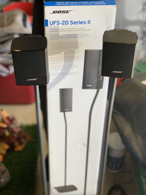 Bose home theatre surround sound speakers with stands for Sale in Rancho Cucamonga, CA