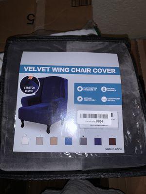 Velvet wing chair cover for Sale in Phoenix, AZ