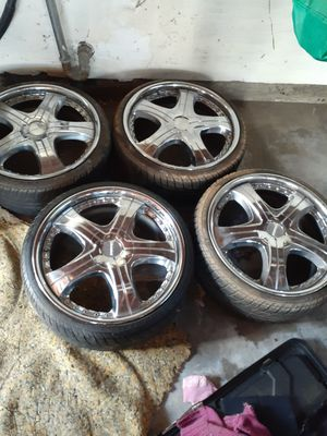 """19"""" Chrome rims and tires for Sale in City of Industry, CA"""