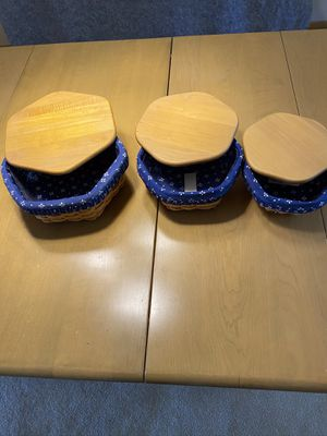 Longaberger stackable basket collection for Sale in Fairview Park, OH