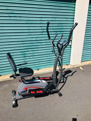 Body champ trio trainer exercise bike and elliptical for Sale in Atlanta, GA