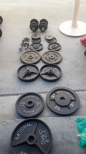 Weights & misc. Weights $125.00 271LBS TOTAL WEIGHT for Sale in Spring Valley, CA