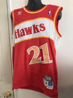 Atlanta hawks basketball 🏀 jersey of Dominique Wilkins size medium for Sale in Chino, CA