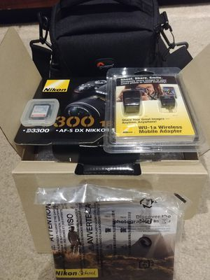 Nikon D3300 DSLR Camera-New with Bag for Sale in West Springfield, VA