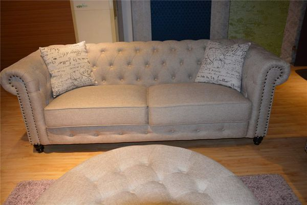 Fabric Chesterfield couch loveseat set