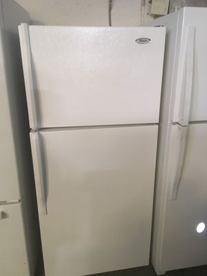 Refrigerator brand whirlpool everything is good working condition 60 days warranty for Sale in San Leandro, CA