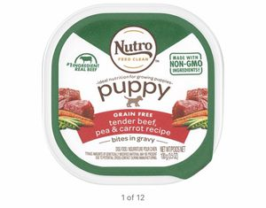 Nutro Puppy Food Beef 12 Pack for Sale in Lowell, MA