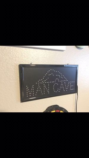 Man cave sign! Everything works and lights up! Its a plug in 🔌 for Sale in Thornton, CO