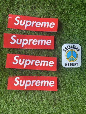SUPREME & CHINA MARKET STICKERS for Sale in Nashville, TN