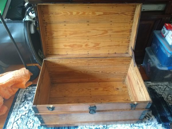 Large pirate style wooden storage chest