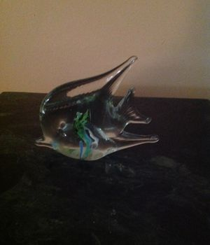 Collectible glass angle fish for Sale in Powder Springs, GA