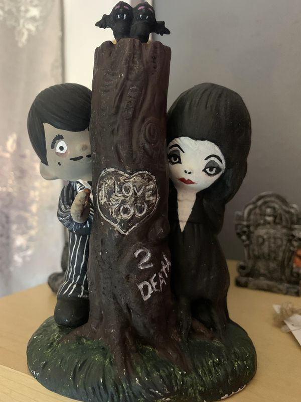 Remade precious Moments nativity set into Addams Family
