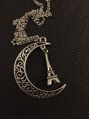 Moon Eiffel Tower necklace. for Sale in Denver, CO