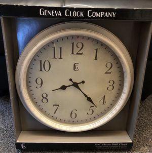 New ,Geneva , large Antique White Clock for Sale in Vancouver, WA