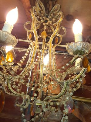 Beautiful antique Victorian Crystal chandelier for Sale in Layton, UT