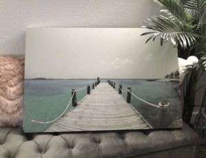 Large Ocean Beach Dock Canvas Art Print for Sale in Tacoma, WA
