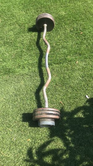 fixed standard size curl bar for Sale in Los Angeles, CA