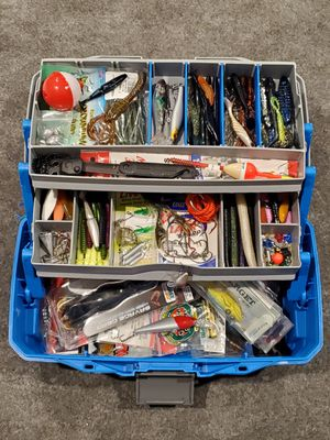 Fishing tackle box blue for Sale in Los Angeles, CA