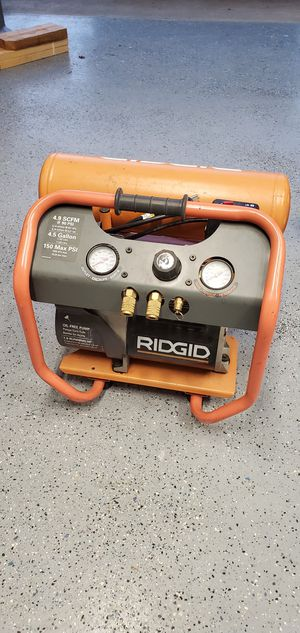 Rigid Dual Tank Air Compressor $125 for Sale in Vancouver, WA