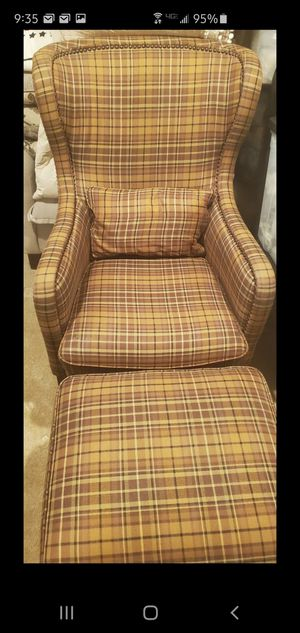 Wingback chair and ottoman for Sale in Westminster, CO