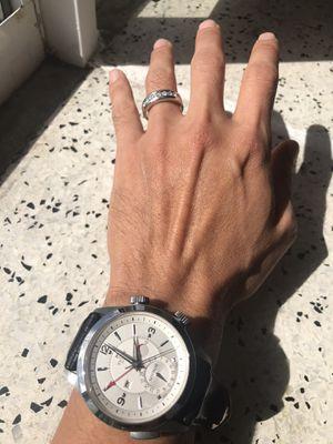 Platinum .955 9 Diamond Men's Wedding band pimp ring for Sale in Hollywood, FL