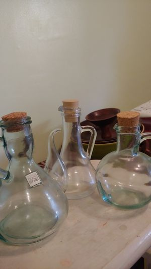 Oil/ vinegar glass containers for Sale in Burlingame, CA
