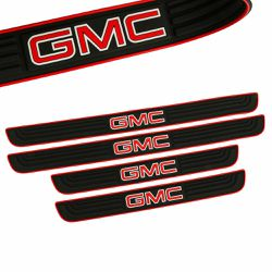 BRAND NEW 4PCS GMC RED RUBBER DOOR SILL SCUFF UNIVERSAL for Sale in City of Industry,  CA